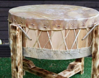 "24"" Pow Wow Drum. Cow Rawhide Drum.Gathering Drum.Native American Inspired Drum"