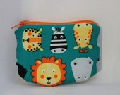Little Zipper pouch, coin purse animals