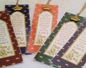 "Son of the King Bookmarks Prince Gift Favor ""ALL COLORS"" Set of 5 Sunday School Class gift Inspirational Gift StrengthfortheJourney"