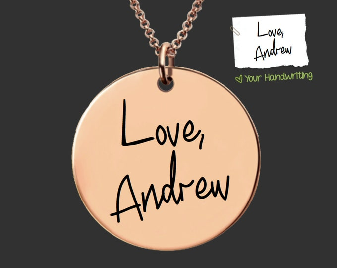 Rose Gold | Handwriting Jewelry | Handwriting Necklace | Signature Jewlery | Personalized Gifts | Korena Loves