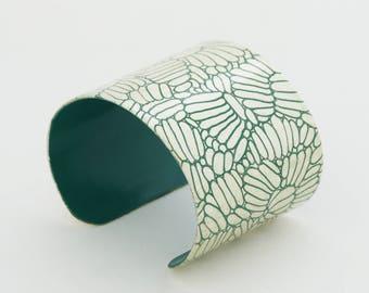 Bracelet DAHLIA - Emerald & White Gold -