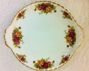 Eared Cake Plate Old Country Roses, Royal Albert