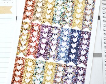 Fits Erin Condren Vertical, Glitter Planner Stickers, Glitter look Planner Stickers for use with Erin Condren