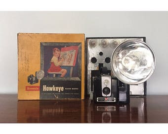 Kodak Brownie Hawkeye with Accessories and Orig Box