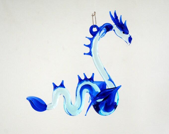 e36-910 Large Sea Dragon Aqua Cobalt