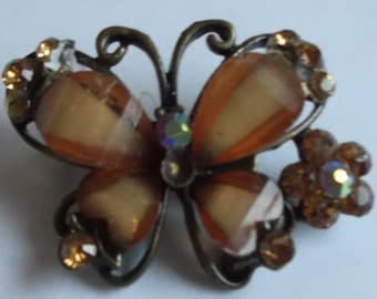 Vintage 1960s Butterfly Brooch Five Pound Bargain