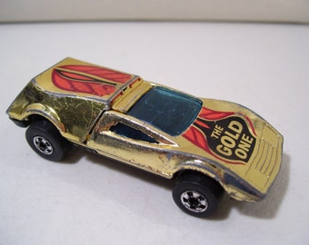Vintage Hot Wheels Buzz Off The Gold One Die-cast Car, 1969 Hong Kong