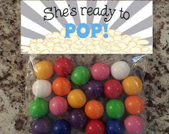She's Ready to Pop- Blue Bag Topper