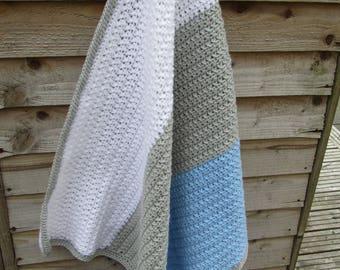 SALE Baby blanket, crochet blanket, crochet baby blanket, textured blanket, nursery blanket