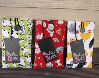 Padded phone cover ,sunglass case, cell phone cover, ipod case , gadget case, phone sleeve protector
