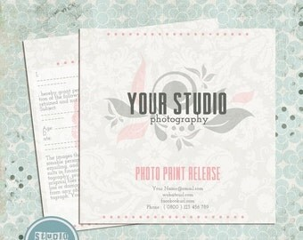 ON SALE Photo Print Release Form Template - Photography Forms, Instant Download