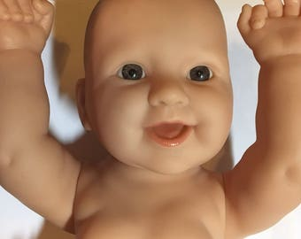 """Berenguer baby doll for rebirth, repaint, or parts  16"""" doll"""