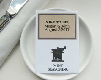 Mint To Be-Wedding Favor Ideas-Wedding Favor Seasoning Packets-Ideas for Wedding Favours-diy Wedding Favors-Unique Wedding Favors-Weddings