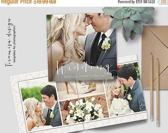 ON SALE 12x12 Wedding Album Photoshop Template, Photo Album for Pro Photographers, Photobook Template