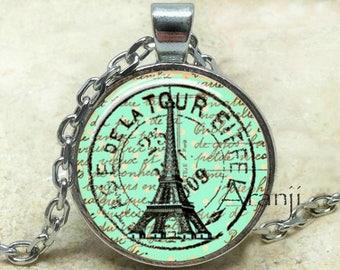 Eiffel Tower art pendant, Eiffel Tower necklace, Eiffel Tower pendant, Eiffel Tower jewelry, Paris necklace, Paris pendant, Pendant #SP150P