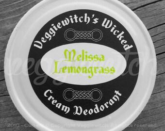 Melissa Lemongrass - Veggiewitch Cream Deodorant - All Natural - Vegan & Organic