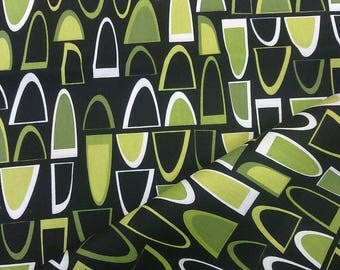 Tablecloth black white green abstract figures Modern Scandinavian Design , napkins , runner , curtains , pillow covers , great GIFT