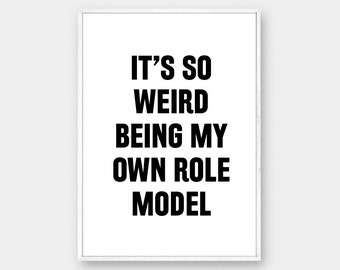 THE MINDY PROJECT Role Model Quote, Typography Print, Tv Quote, Mindy Kaling, The Mindy Project Tv Show