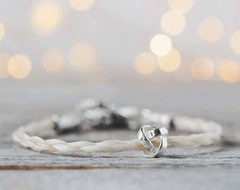 Custom Horse Hair Bracelet| Horse Hair Jewelry| Gift for Horse Lover| Equestrian Bracelet| Horsehair Bracelet| One-of-a-kind gift| Love Knot