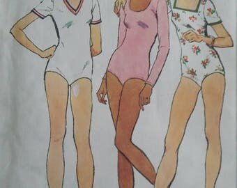UNCUT and FF Pattern Pieces Vintage Simplicity 6288 Sewing Pattern Size 14 Bust 36 Stretch Bodysuits