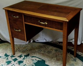 Beautiful Sewing Machine Cabinet fits most full-size, mid-Century Singers and Japanese machines -local pickup or delivery, or???