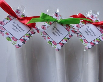 20 Lady Bug Bath Salt Party Favors, Love, Custom Favors, Bath Salts, Showers, Special Occasions