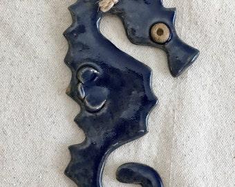 Ceramic Whimsical Seahorse Ornament