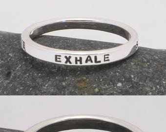 Personalized Sterling Silver Mom Ring, Stress Management, Mood Adjustment, Relaxation, Meditation Ring