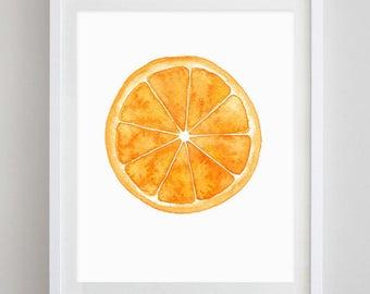 Orange Watercolor Art Print