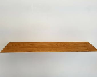 floating shelf. Solid Oak Handmade wall shelves shelving Free Engraving personalised Free P&P
