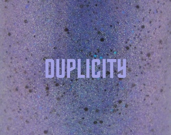 """Duplicity glitter nail polish 15 mL (.5 oz) from the """"Trek"""" Collection"""