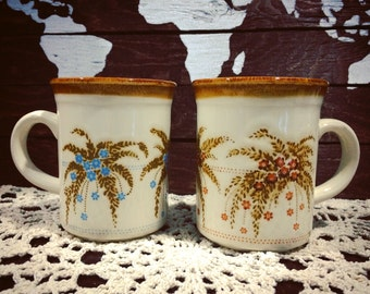 Set of Two Vintage Mugs - Biltons Made in England