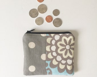 Floral Coin, Purse, Coin Pouch, Coin Bag, Small Coin Bag