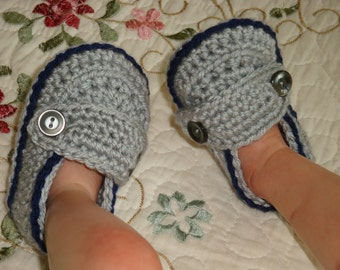Infant, Baby Loafers, Booties, size 0-6 months, Ready to Ship.