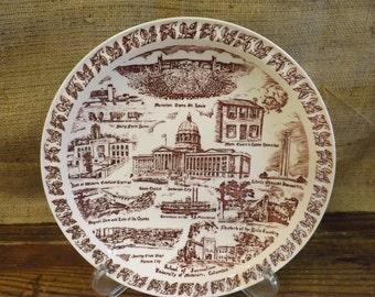 Missouri Souvenir Plate Vernon Kilns Plate
