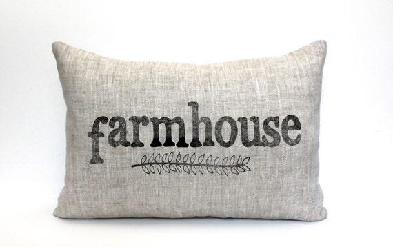 Farmhouse Pillow Housewarming Gift Wedding Gift Farm - Us map pillow