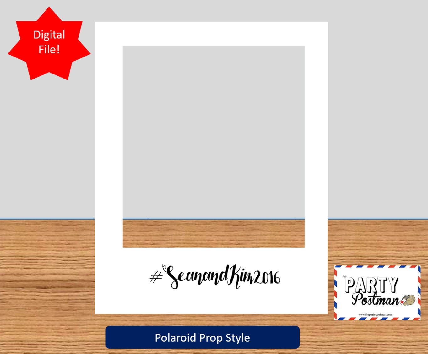 Custom Polaroid Frame Booth Prop by ThePartyPostman