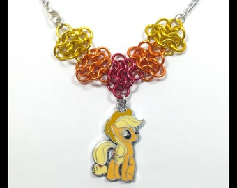 My Little Pony Applejack - Chainmaille Charm Necklace