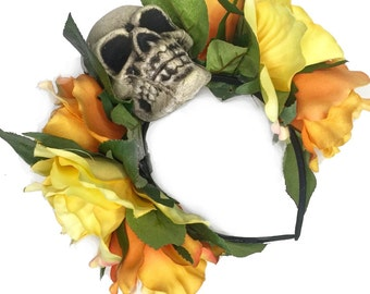 Sahara Rose Skull Headband