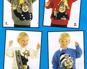 KNITTING PATTERN Fireman Sam Knitting Pattern Vintage Knitting Pattern Vintage Knitting Book Fireman Sam Jumpers Fireman Sam Knitting