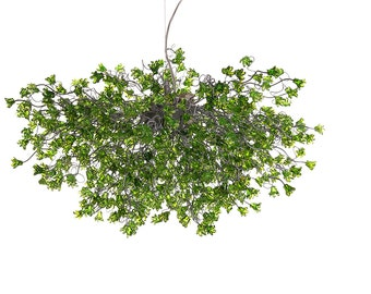 Green jumping flowers Hanging chandeliers for dinning room, living room, office or master bedroom.