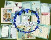 Digital Garden Journal Album, Garden Memories, Digital, Printable,  Journal Kit, 8.5 x 11, Digital Journal Kit, Instant download