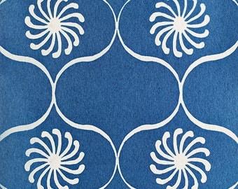 Handmade Cyanotype - Spanish Moroccan Lattice Cement Pattern