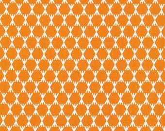 Foxglove Collection - Cloud 9 Organic Cotton -Stem Dot Orange - Fabric by the Yard