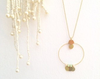 ıOndineı Necklace woman jewels wedding birthday gift sweetness boheme poetic minimal pastel