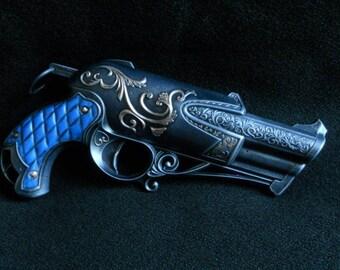 Steampunk Gun Pistol Cosplay Gun LARP Nerf Rebelle Charmed Dauntless