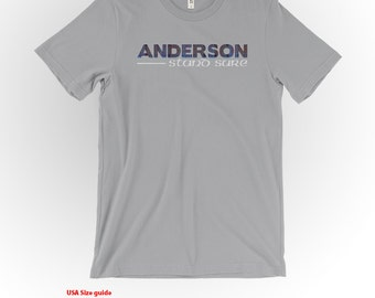 Anderson Clan Tartan and Motto T-Shirt Silver Shirt Scottish Clan Apparel