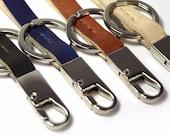 Leather Loop Keychain--Hand dyed Veg-tan