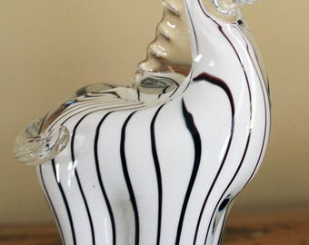 Murano Glass Zebra Figurine