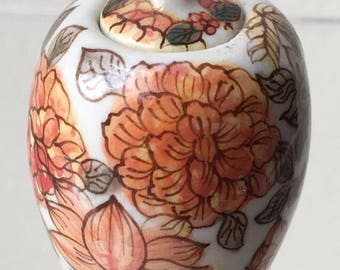 Dollhouse Miniature Porcelain Ginger Jar (BL)